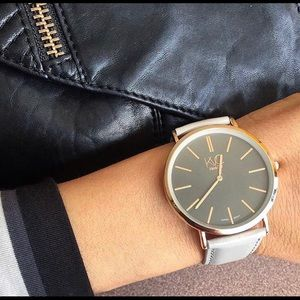 NWOT Gray and Rose Gold Watch